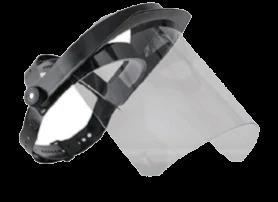 Pantalla de protección facial abatible